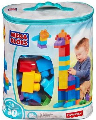 Mega Bloks 80 Piece Big Building Bag