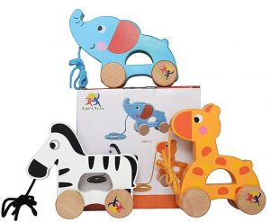 Best Gifts for 1 Year Old Girls Wooden Pull Along Toy Set