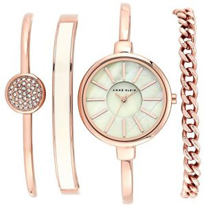 Unique Valentine Gifts For Women Anne Klein Women Bangle Watch and Bracelet Set