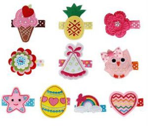 best gifts for 1 year old girls Fabric Hair Clip Accessories