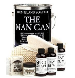 unique valentines gifts for men The Man Can All Natural Bath and Body Gift Set for Men