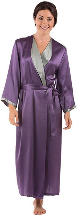 TexereSilk Women Luxury Long Silk Bathrobe