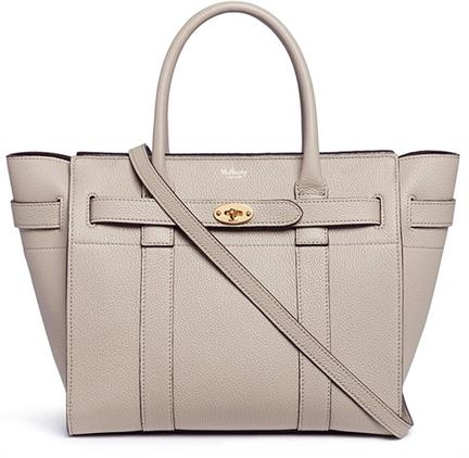 Mulberry Small Zipped Bayswater Grainy Leather Tote