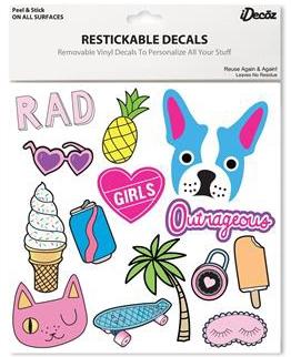 iDecoz GIRLS Reusable Large Vinyl Decal Sticker