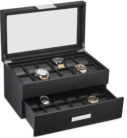 Glenor Co 24 Slot Luxury Display Case Organizer