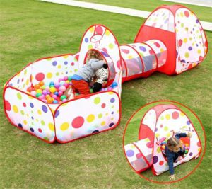 Folding Kids Play Tent with Tunnel