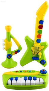 WolVol 3 Piece Band Musical Toy Instruments for Kids