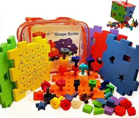 Best Gifts For A 3-Year-Old Girl Shape Sorter Activity Cube Peg Board Set