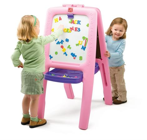 Best Gifts For A 3-Year-Old Girl Step2 Pink Easel for Two