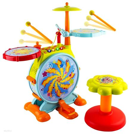 Best Gifts For A 3-Year-Old Girl WolVol Electric Big Toy Drum Set