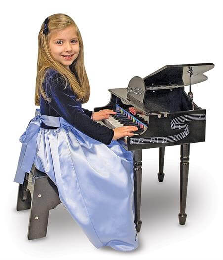 Best Gifts For A 4 Year Old Girl Melissa & Doug Learn-To-Play Classic Grand Piano