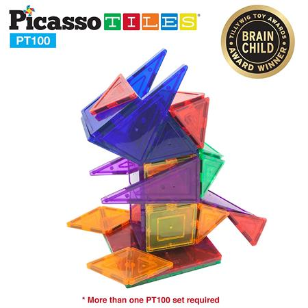 PicassoTiles Magnetic 3D Building Blocks