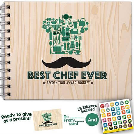 BEST CHEF EVER - Recognition Award Personalizable Booklet