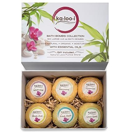 Bath Bombs Gift Set of 6 Extra Large Premium Pack in a Deluxe Package