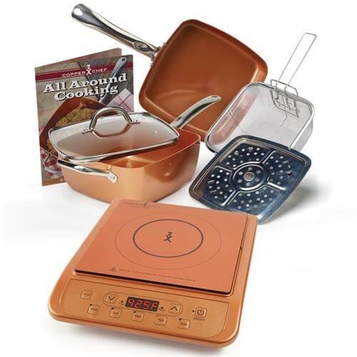 Copper Chef Deep Square Pan 6 Piece Set