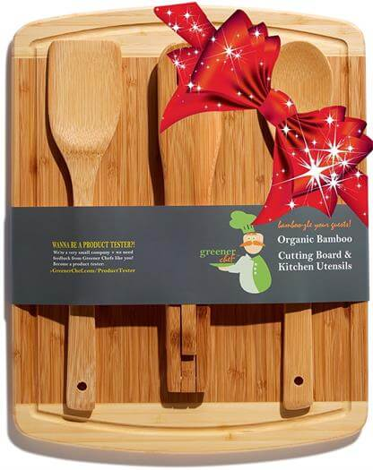Greener Chef Bamboo 3-Piece Kitchen & Cooking Utensils