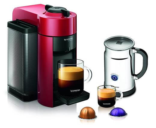 Nespresso A+GCC1-US-RE-NE VertuoLine Evoluo Coffee & Espresso Maker