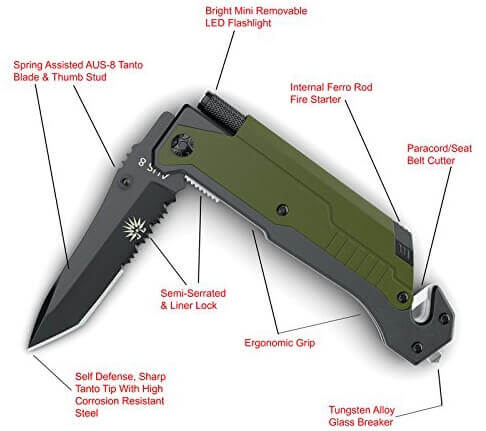 Off-Grid Knives - 5 in 1 Survival Knife