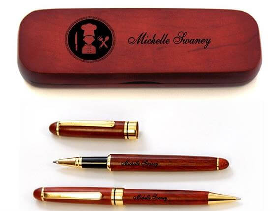 Personalized pen sets for Chef Cook