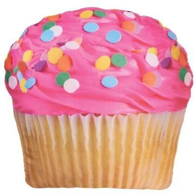 Pink Icing Cupcake Pillow