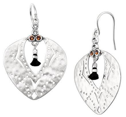 Silpada Sterling Silver Tassel Fringe Drop Earrings