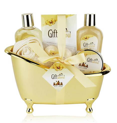 Spa Gift Basket with Sensual Rose & Jasmine Fragrance