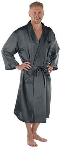 TexereSilk Mens Luxury Silk Robe