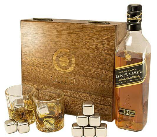 Whiskey sipping stones gift box