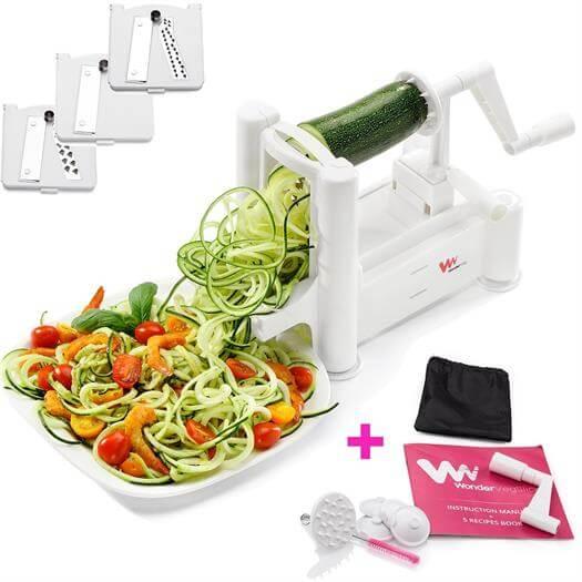 WonderVeg Spiralizer Vegetable Slicer