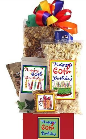 60th Birthday Gift Basket Delight