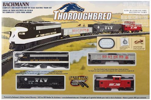Bachmann Trains Thoroughbred Ready to Run HO Scale Train Set 1