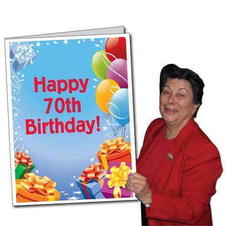 2x3 Giant 70th Birthday Card