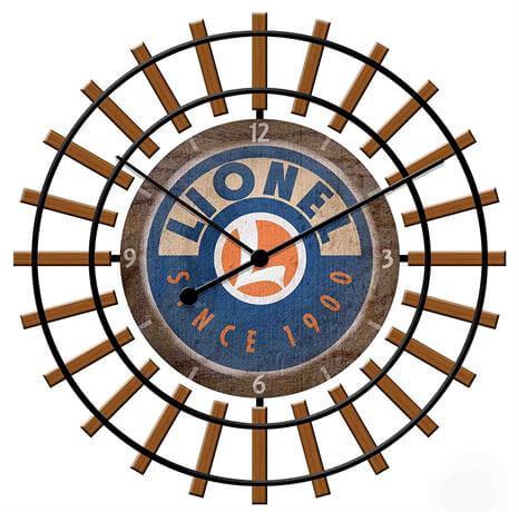 lionel trains railroad clock