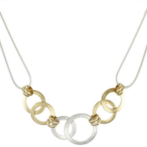 Marjorie Baer Linked Rings Necklace
