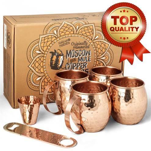 Moscow Mule Copper Mugs set