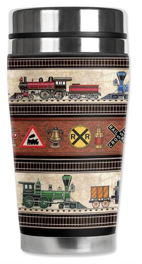 Mugzie Trains Signs Travel Mug