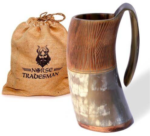 Norse Tradesman Genuine Viking Drinking Horn Mug