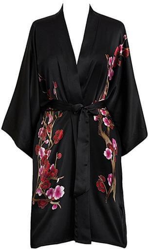 Old Shanghai Silk Kimono Short Robe
