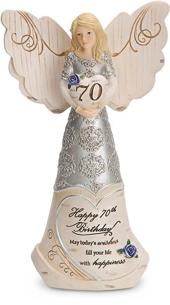 Happy 70th Birthday Angel Figurine