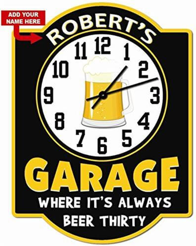 Personalized Beer Thirty Garage Clock