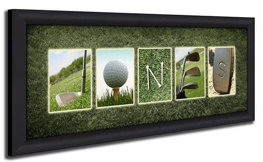 Personalized Golf Name Art