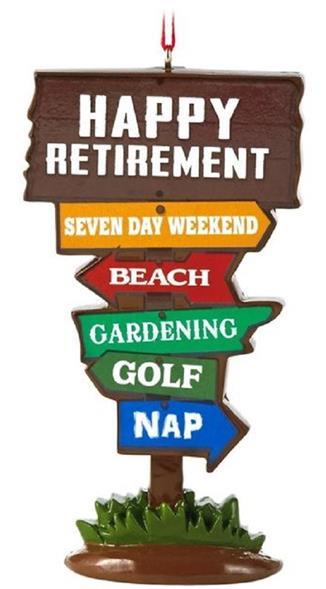Retirement Hallmark Gift Ornament Milestones