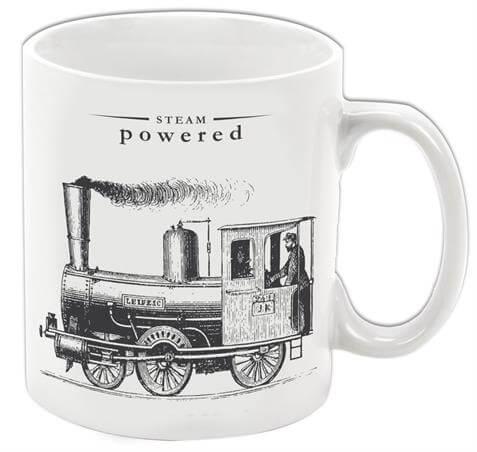 Steam Powered Porcelain Mug