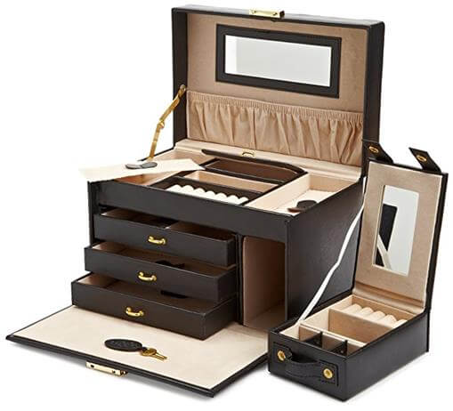 WOLF Heritage Large Jewelry Case with Travel Case