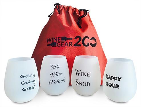 4 Wine Glasses Unbreakable