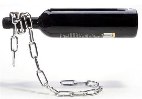 Illusionz Magic Chain Wine Bottle Holder