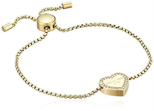 Michael Kors Logo Gold Tone Slider Bangle Bracelet