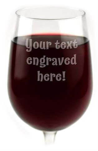 Personalized Wine Glass Engraved with Your Custom