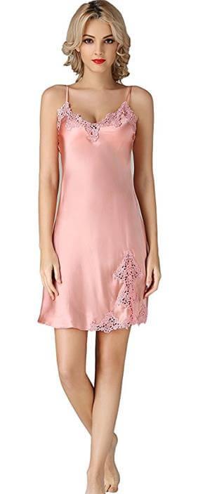 Silk Nightgown Lace Nightdress