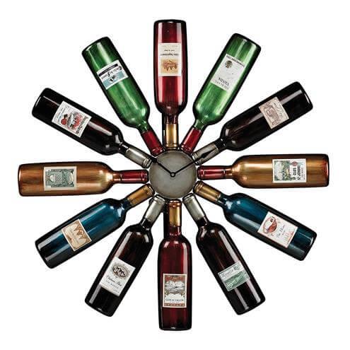 Sterling Industries 51 10085 Wine Bottle Clock